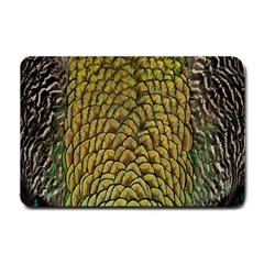 Colorful Iridescent Feather Bird Color Peacock Small Doormat