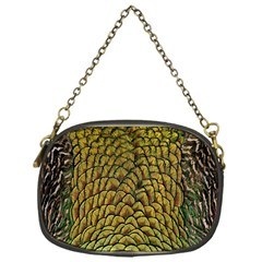 Colorful Iridescent Feather Bird Color Peacock Chain Purses (one Side)