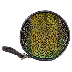 Colorful Iridescent Feather Bird Color Peacock Classic 20-CD Wallets