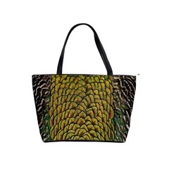 Colorful Iridescent Feather Bird Color Peacock Shoulder Handbags
