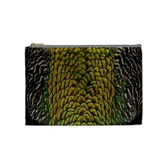 Colorful Iridescent Feather Bird Color Peacock Cosmetic Bag (medium)