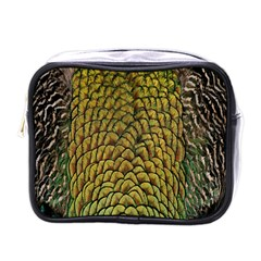 Colorful Iridescent Feather Bird Color Peacock Mini Toiletries Bags