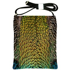 Colorful Iridescent Feather Bird Color Peacock Shoulder Sling Bags