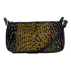Colorful Iridescent Feather Bird Color Peacock Shoulder Clutch Bags