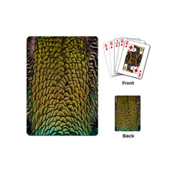 Colorful Iridescent Feather Bird Color Peacock Playing Cards (Mini)