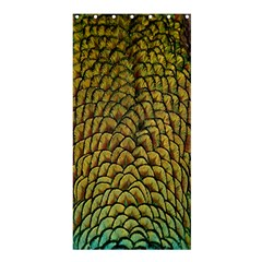Colorful Iridescent Feather Bird Color Peacock Shower Curtain 36  X 72  (stall)