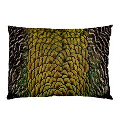 Colorful Iridescent Feather Bird Color Peacock Pillow Case (two Sides)