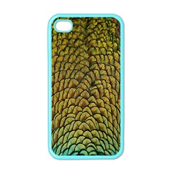 Colorful Iridescent Feather Bird Color Peacock Apple Iphone 4 Case (color)