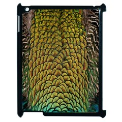Colorful Iridescent Feather Bird Color Peacock Apple iPad 2 Case (Black)