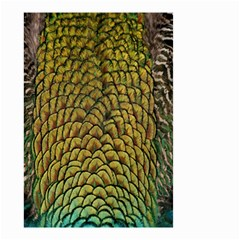 Colorful Iridescent Feather Bird Color Peacock Small Garden Flag (Two Sides)