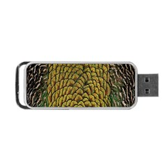 Colorful Iridescent Feather Bird Color Peacock Portable Usb Flash (one Side)