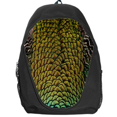 Colorful Iridescent Feather Bird Color Peacock Backpack Bag
