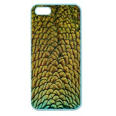 Colorful Iridescent Feather Bird Color Peacock Apple Seamless iPhone 5 Case (Color)
