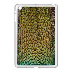 Colorful Iridescent Feather Bird Color Peacock Apple Ipad Mini Case (white)