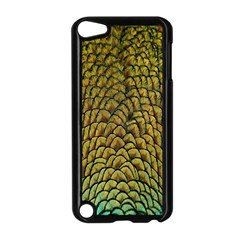 Colorful Iridescent Feather Bird Color Peacock Apple Ipod Touch 5 Case (black)