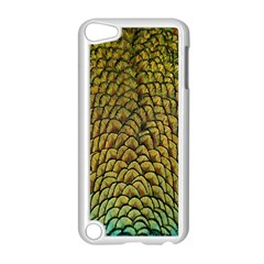 Colorful Iridescent Feather Bird Color Peacock Apple Ipod Touch 5 Case (white)