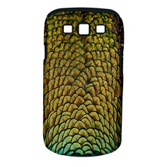 Colorful Iridescent Feather Bird Color Peacock Samsung Galaxy S Iii Classic Hardshell Case (pc+silicone)