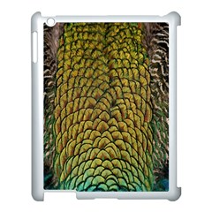 Colorful Iridescent Feather Bird Color Peacock Apple Ipad 3/4 Case (white)