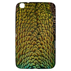 Colorful Iridescent Feather Bird Color Peacock Samsung Galaxy Tab 3 (8 ) T3100 Hardshell Case