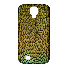 Colorful Iridescent Feather Bird Color Peacock Samsung Galaxy S4 Classic Hardshell Case (pc+silicone)