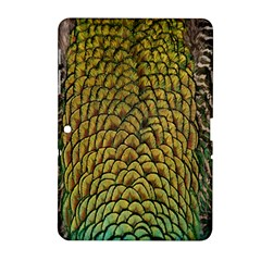 Colorful Iridescent Feather Bird Color Peacock Samsung Galaxy Tab 2 (10 1 ) P5100 Hardshell Case