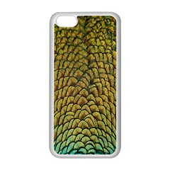 Colorful Iridescent Feather Bird Color Peacock Apple Iphone 5c Seamless Case (white)