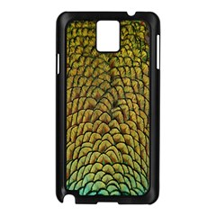 Colorful Iridescent Feather Bird Color Peacock Samsung Galaxy Note 3 N9005 Case (Black)