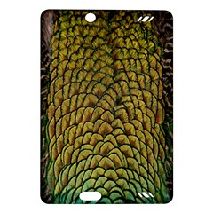 Colorful Iridescent Feather Bird Color Peacock Amazon Kindle Fire Hd (2013) Hardshell Case
