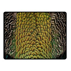 Colorful Iridescent Feather Bird Color Peacock Double Sided Fleece Blanket (small)