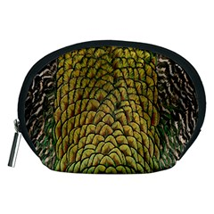 Colorful Iridescent Feather Bird Color Peacock Accessory Pouches (medium)