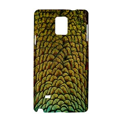 Colorful Iridescent Feather Bird Color Peacock Samsung Galaxy Note 4 Hardshell Case