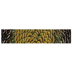 Colorful Iridescent Feather Bird Color Peacock Flano Scarf (small)