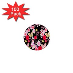 Flower Arrangements Season Rose Butterfly Floral Pink Red Yellow 1  Mini Magnets (100 pack)