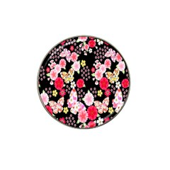 Flower Arrangements Season Rose Butterfly Floral Pink Red Yellow Hat Clip Ball Marker (4 Pack)