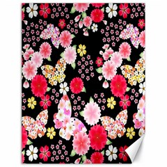 Flower Arrangements Season Rose Butterfly Floral Pink Red Yellow Canvas 18  x 24