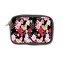 Flower Arrangements Season Rose Butterfly Floral Pink Red Yellow Coin Purse