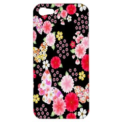 Flower Arrangements Season Rose Butterfly Floral Pink Red Yellow Apple Iphone 5 Hardshell Case
