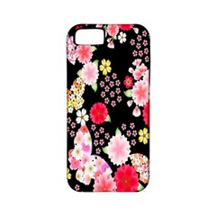 Flower Arrangements Season Rose Butterfly Floral Pink Red Yellow Apple iPhone 5 Classic Hardshell Case (PC+Silicone)
