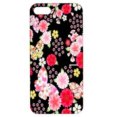 Flower Arrangements Season Rose Butterfly Floral Pink Red Yellow Apple iPhone 5 Hardshell Case with Stand