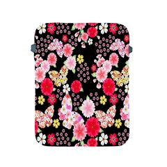 Flower Arrangements Season Rose Butterfly Floral Pink Red Yellow Apple iPad 2/3/4 Protective Soft Cases
