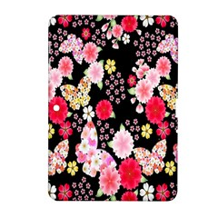 Flower Arrangements Season Rose Butterfly Floral Pink Red Yellow Samsung Galaxy Tab 2 (10 1 ) P5100 Hardshell Case