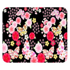 Flower Arrangements Season Rose Butterfly Floral Pink Red Yellow Double Sided Flano Blanket (Small)