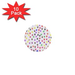 Paw Prints Background 1  Mini Buttons (10 pack)
