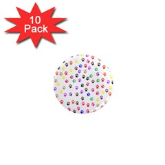 Paw Prints Background 1  Mini Magnet (10 Pack)