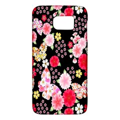 Flower Arrangements Season Rose Butterfly Floral Pink Red Yellow Galaxy S6
