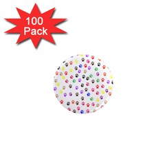Paw Prints Background 1  Mini Magnets (100 pack)