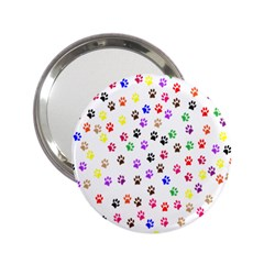 Paw Prints Background 2 25  Handbag Mirrors