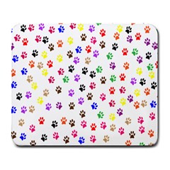 Paw Prints Background Large Mousepads