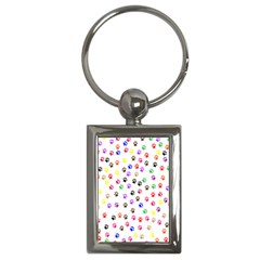 Paw Prints Background Key Chains (rectangle)