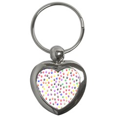 Paw Prints Background Key Chains (heart)